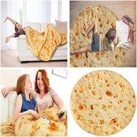 90 cm 150 cm Manta de burrito mexicano Tortilla Mantas del hogar Adulto Niño Cómodo Alimento Tirar Mantas Mojadas Música Seashippin 66 J2