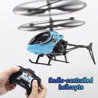 Rc giocattolo dell'elicottero di ricarica modello mini regalo Aeroplano con la luce di Natale dei bambini ad alta velocità di rotazione resistente Broken-