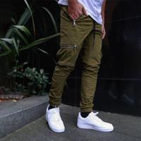 جديد 2021 رجل القطن عارضة بلون البضائع جيوب مقاومة ارتداء السراويل يتأهل الشارع الشهير سولاين ملابس للرجال