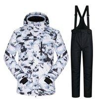 Лыжные куртки 2021 лыжный костюм мужские бренды устанавливаются супер теплые водонепроницаемые ветрозащитные снежные брюки мужские зима и сноуборд