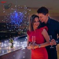 Weihnachtsbaum dekorative Feuerwerke Licht LED Explosion Stars Kupfer Draht String Lights Solar Fernbedienung Kleine String Lights
