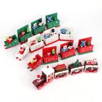 الإبداعية قطار عيد الميلاد مهرجان أربعة نافذة عرض الهدايا الصغيرة ندفة الثلج قطار خشبي 8 أنماط من اللعب عيد الميلاد هدايا عيد الميلاد T3I51260