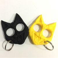 Nieuwe Aankomst Mini Plastic Kat Hoofd Zelfverdekering Hanger Sleutelhanger Voor Vrouwen Meisje Outdoor Zelfverdekering Hand Gesp Car Bags Sleutelhangers Gift