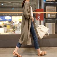 LANMREM осень Новый Повседневная мода Темперамент женщин куртки Сыпучие Plus Solid Color однобортный хлопок кардиган 200929