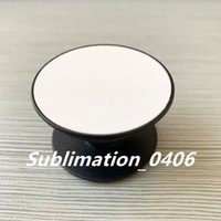 50pcs / lot Sublimation Telefon Stand Telefonhalter mit leerer Aluminiumblechplatte und Klebstoff für DIY personalisierte benutzerdefinierte Telefonhalterung