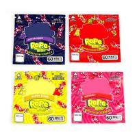 İlaçlı Nerds Halat Isırıkları Çanta Boş Kare Sakızlı Mylar Çanta Paketleme Kılıfı Kuru Herb Tütün Çiçek Depolama Perakende Satış