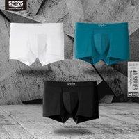 Calzoncillos 52025 hombres boxeadores de 3 paquetes de alto conteo micromodal Microomodal Troncos de moda suave transpirable cómodo elástico sexy ropa interior1