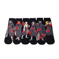 Meias masculinas Naruto Anime Mens Crew colorido algodão divertido novidade vestido presente