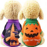 Lindo pequeño carnaval gatos para traje de vestir pies halloween mascota chaqueta divertida ropa de gato perro dos perros de invierno 2 estilos hh9-3317