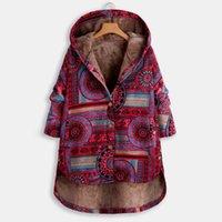 여성용 파카 여성 코트 파카 플러스 사이즈 멋진 패션 겨울 따뜻한 레이디 긴 소매 지퍼 두꺼운 봉제 유행 인쇄 후드 자켓 # J3
