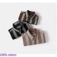 Camisas de vestido masculino 2021 Chegada dos homens 100% de algodão manga plena colarinho camisa formal sarja regular tamanho listrado S-3XL1