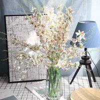 1 шт. Искусственный букет орхидеи симуляционный танец орхидея ветвь реальный прикосновение DIY Свадебные букеты украшения дома цветочная композиция1