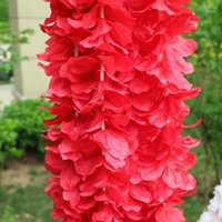 10 unids 1M flor artificial simulación simulación de boda holiday holiday pared colgando arco hortensia decorativa cesta bricolaje wisteria1