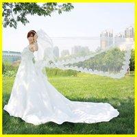 2021 В наличии Доступные пользовательские изготовленные свадебные вуали Tulle Applique Edge внешняя торговая вуаль для свадьбы