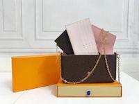 Lussurys Designer Borse Borse Borsa Nuova Donna Borse di Fashion Flap Borse a tracolla Borsa a tracolla Pochette di alta qualità Borsa a catena Félicie con Box Dust Bag