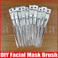 Maschera per il viso corredo della spazzola di trucco Maschere cura della pelle pennelli viso applicatori COSMESI fai da te maschera facciale Eye Strumenti Clear Handle 15.5cm