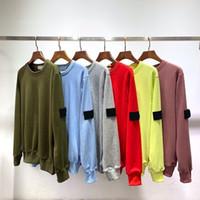 뉴 아일랜드 캔디 탑스 니 CP 색상 인간 캐주얼 스톤 로고 긴 소매 커플 느슨한 O 넥 스웨터