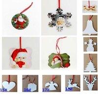 Sublimation vierge MDF rond carré neige de neige de Noël ornements décorations de transfert chaud impression bricolage vierge consommable cadeaux de Noël nouveau HH9-2586