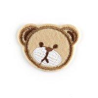 Logotipo de moda bonito pequeno urso cabeça ferramentas de costura personalizado tampão tampão bordado bordado usado amplamente customizável