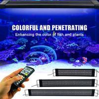 El mejor vendedor 25W 108LED Lámpara de hierba solar con control remoto Luz suave 28.54 pulgadas Negro Apto para 28.54-42.32inch Aquarium largo