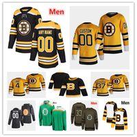 Boston Bruins 2021 Reverse Retro Jersey Hóquei Charlie Coyle Patrice Bergeron David Pastrnak David Krejci Jake Debrusk Bobby Orr Marchand