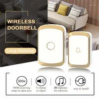 Timbre inalámbrico a prueba de agua a prueba de agua EU Reino Unido EE.UU. Plug Smart Door Bell Chime Batería Button Button Button AC WiFi Doorbell Smart1
