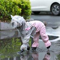 Hoopet Pet Dog El impermeable Ropa impermeable Mono de lluvia para perros pequeños Ropa para mascotas al aire libre Abrigo Suministros para mascotas 201109