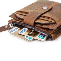 Westal RFID محافظ مع عملة جيب الرجال محفظة جلد طبيعي hsp محفظة للرجال حامل البطاقة أضعاف محافظ جلد الرجل 8929