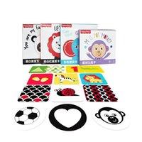 Baby Black White Flash-карта Образовательные Montessori Baby Toys 0-36 месяцев Высокая контрастность Визуальная стимуляция Flashcard Сенсорные игрушки