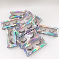 Новые 3D норковые ресницы 8-10 мм короткие длины ручной работы норковые волосы полные ресницы натуральные норковые ложные ресницы