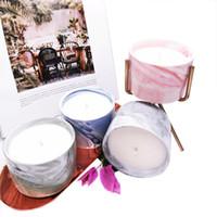 Céramique Jar Aromathérapie Bougie DIY Festival Anniversaire Cadeaux parfumés Bougies de bougie parfumée Vanille cerises parfumées bougies parfumées
