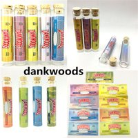 Dankwoods Paketi Ön Rulo Ortak Ambalaj Dankwoods Ambalaj Boş Preroll Cam Tüp Ahşap Mantar İpucu 120 * 21mm Kuru Herb Paket Tüp Çıkartmalar