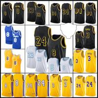 23 Oyuncu Los Mens Angeles Jersey Alex 4 Caruso Jersey Kyle 0 Kuzma Anthony 3 Davis 2021 Yeni Siyah 6 32 34 İsim Basketbol Forması