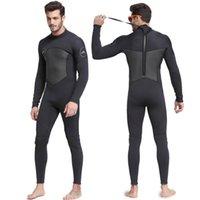 Гидрокостюм мужской теплый и холодным доказательством 3 мм цельные мокрые сноркелинг плавание солнцезащитный крем медуз костюм серфинг костюм женский гидрокостюм