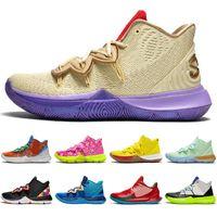 Ucuz Kyrie Irving \ RSPONGEBBOB 5 5 S Jumpman Erkekler Basketbol Ayakkabı Arkadaşlar USA Patrick Erkek Eğitmenler Spor Sneakers Boyutu 7-12