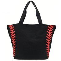Saco de compras dobrável impresso bolsas portáteis Baseball Tote Softball Basquetebol Football Voleibol bolsas de lona 8 estilo EEF3401