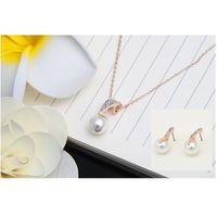 Exquisite Schmuck Sets Anhänger Halskette Ohrringe Mode Kristall Wassertropfen Inlay Accessories Frau Halsketten Ohrstecker 3 26ly K2