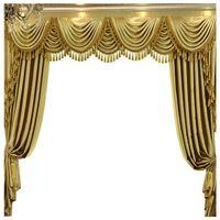 Пользовательские шторы роскошные высококачественные европейские гостиной сплошной золотой толстая спальня занавес занавес тюль валзанс драпировки занавес
