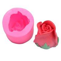 Lebensmittelqualität Silikonformen Reine Farbe 3D Drei Dimensionale Rose Blume Modellierung Kuchen Schokoladenform DIY Heißer Verkauf 6CKA J2
