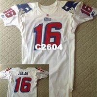 2604 Scott Zolak # 16 emitido 1990 White College Jersey Tamanho S-XXXL ou Personalizado Qualquer nome ou Number Jersey
