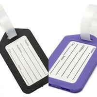 U Factory Name Plastic Holder Labels Strap Address ID Suitcase Portable Tag Baggage Travel Luggage label 3U