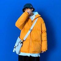 2021 الرجال النساء المتناثرة الملونة فقاعة معطف الشتاء سترة رجل الشارع الشهير الهيب هوب سترة الكورية الملابس رشاقته الخبز