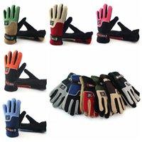 Gants en molleton d'hiver épaissir Gant de ski chaud Snowboard Mitaines Sports de voyage Cinq doigts Gants Favoris 2pcs / paire