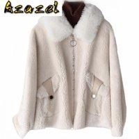 Giacca in lana reale autunno cappotto invernale vestiti donna 2021 pecore shearling pelliccia top in pelliccia coreana vintage manteau femme zt3955