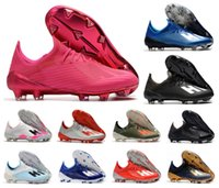2021 NOUVEAU X 19.1 FG Football Hommes Football 19+ Salah Jésus Chaussures 19 + x Bottes de football rose Tarifs de football Taille US 6.5-11