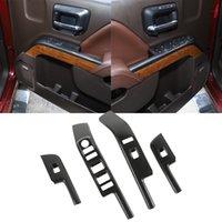 ABS Panneau de commande Panneau de commande Panneau de commande de la fenêtre ABS pour Chevrolet Silverado 2014 à 2017 Accessoires intérieurs en fibre de carbone