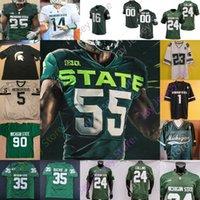 미시간 주 스파르타인 MSU Football Jersey NCAA College Shakur Brown Simmons Panasiuk Scott 화이트 Davis Iii Sadler Waynes Rogers Banress