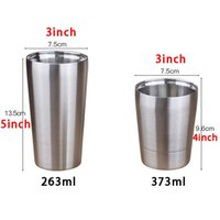 9OZ 13OZ Stainless Steel Cup Anti Falling Outdoor Camping Picnic Sports Water Cups Tea Milk Coffee Mugs Beer Cup Wine Glasses DBC BH4439