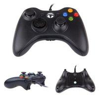 Gamepad del controlador USB con cable de 5V para WinXP / Win7 / Win8 / Win10 para PC PC Laptop Black Game Joystick Xbox 360