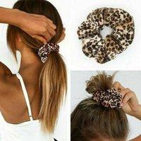 Гладкий коралловый флис бархат классический леопардовый принт головные волосы эластичные стяжки волос эластичные волосы Женщины Аксессуары для волос Q Bbyvak